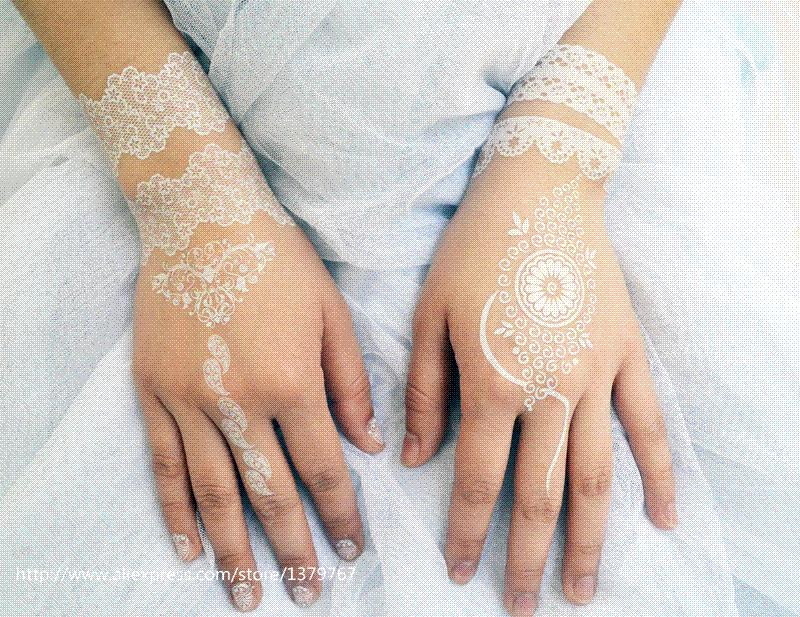White Henna White Tattoo Wholesale Go With Dhl Or Aramex Ems