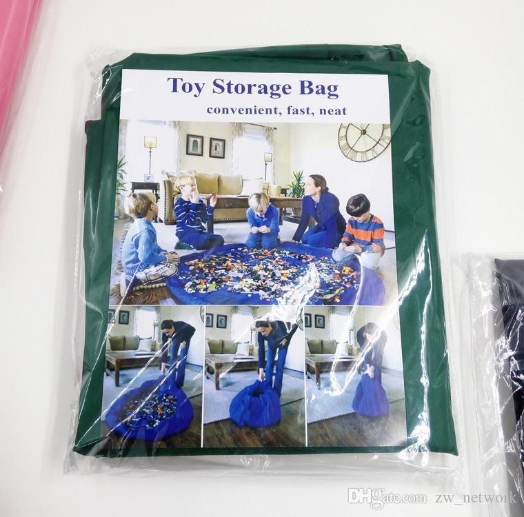 Large Children toys storage bags Oxford bags for housekeeping baby toys storage bag Fast storage pouch blue pink Hand washing