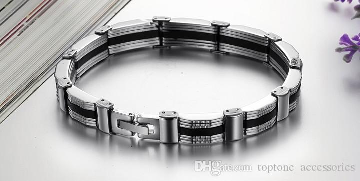 New Coolest Men Fashion Stainless Steel Bracelets Personality Simple Style Titanium Bracelet High Quality