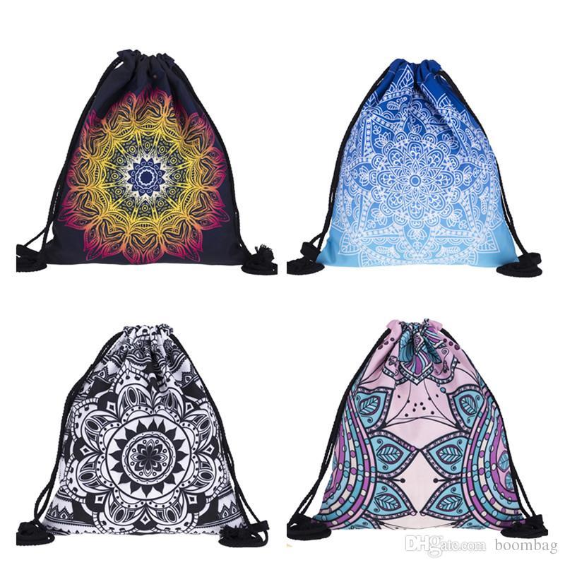 ed0900e3304c Mandala Small Backpack Women 3D Printing Travel Softback Mochila ...