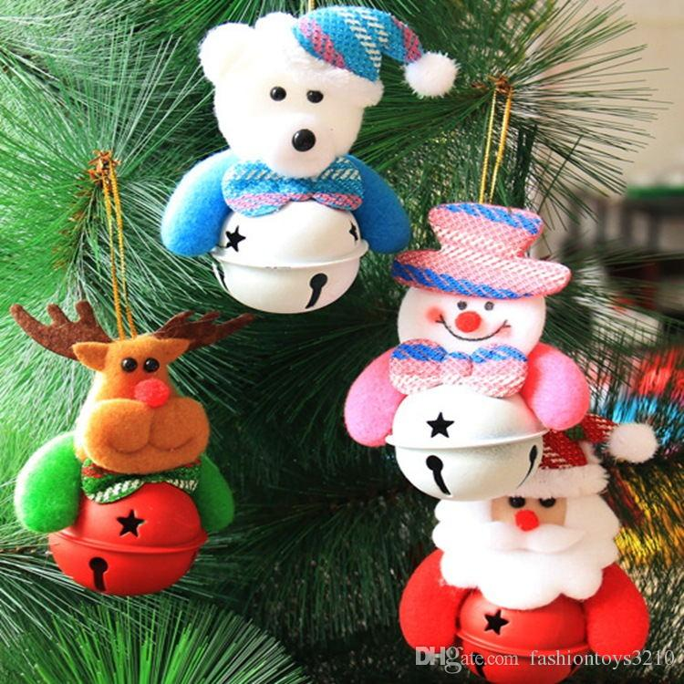 2018 Newest Christmas Tree Plush Toys With Bell Doll Santa Claus Plush Toys  Stuffed Cartoon Toy For Baby Christmas Trees Decoration From  Fashiontoys3210, ...