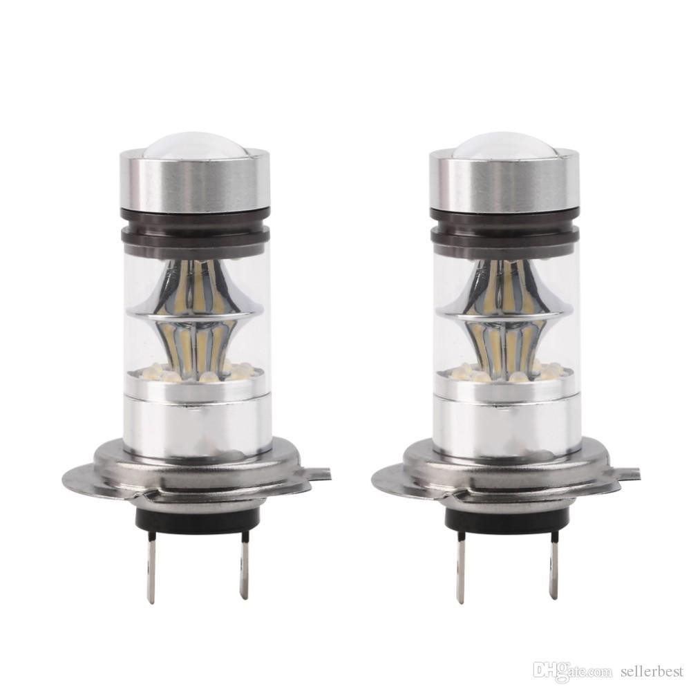 Blanc Style Voiture Puissance 12 De Auto Conduite Queue Lampe Ampoule Lumière 24 Haute Phare Cob Drl 100 Brouillard V Led H7 W 9D2IYEHW