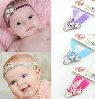 b575803d7200 Baby Hair Accessories Baby Headband Girl Kids Children Hairband Crown  Headband With Diamond And Pearl 5 Mixed Colors Buy Baby Hair Accessories  Online Hair ...