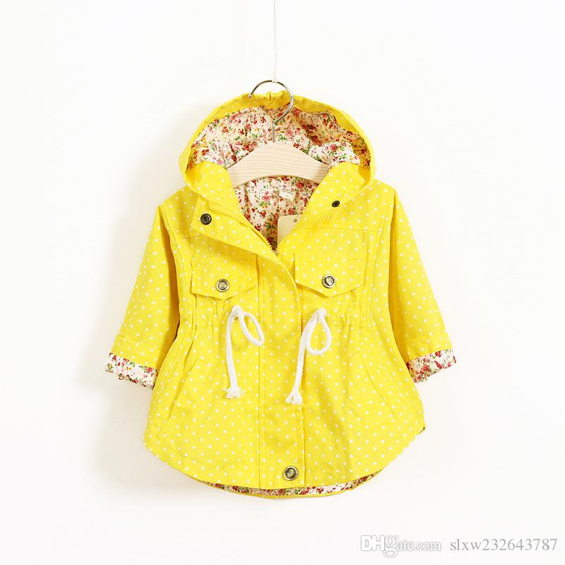 2016 New Spring Cute Baby Girl Coat Print Cartoon Graffiti Hooded ...