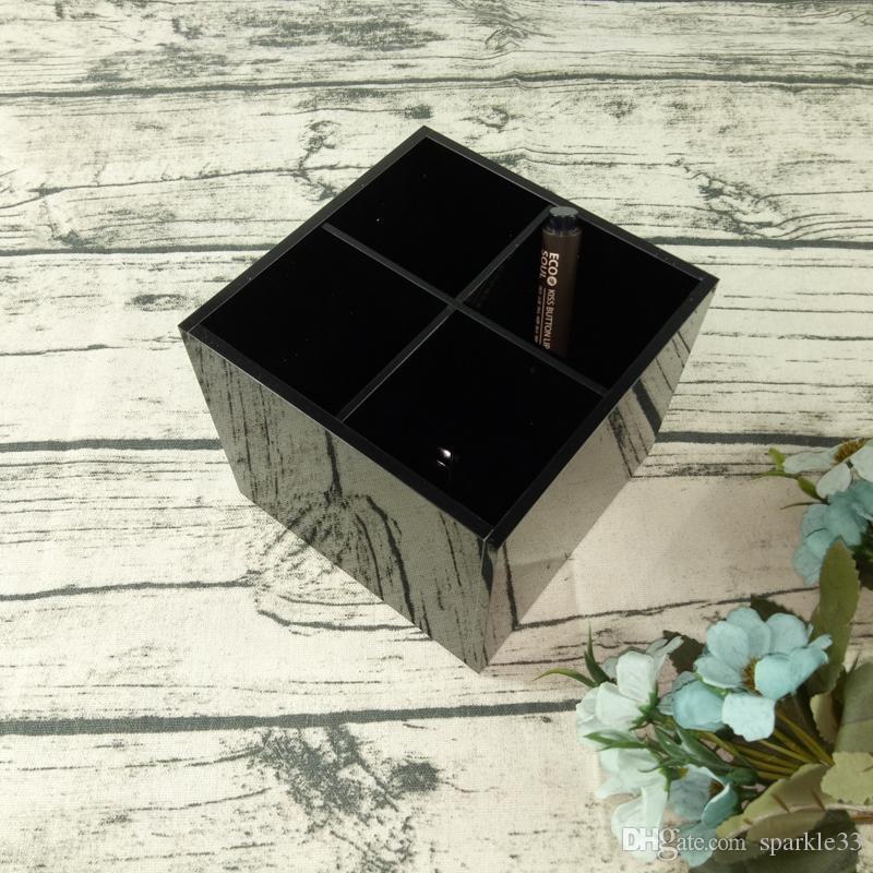 Woman Acrylic Travel Lipstick Shelf Beauty Brush CC MakeUp Black Plastic Cosmetics Storage Box Best Party Gift