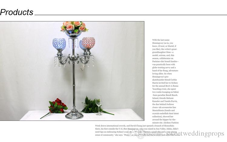 çiçek standı Devekuşu tüyü dekorasyon düğün centerpieces sahne
