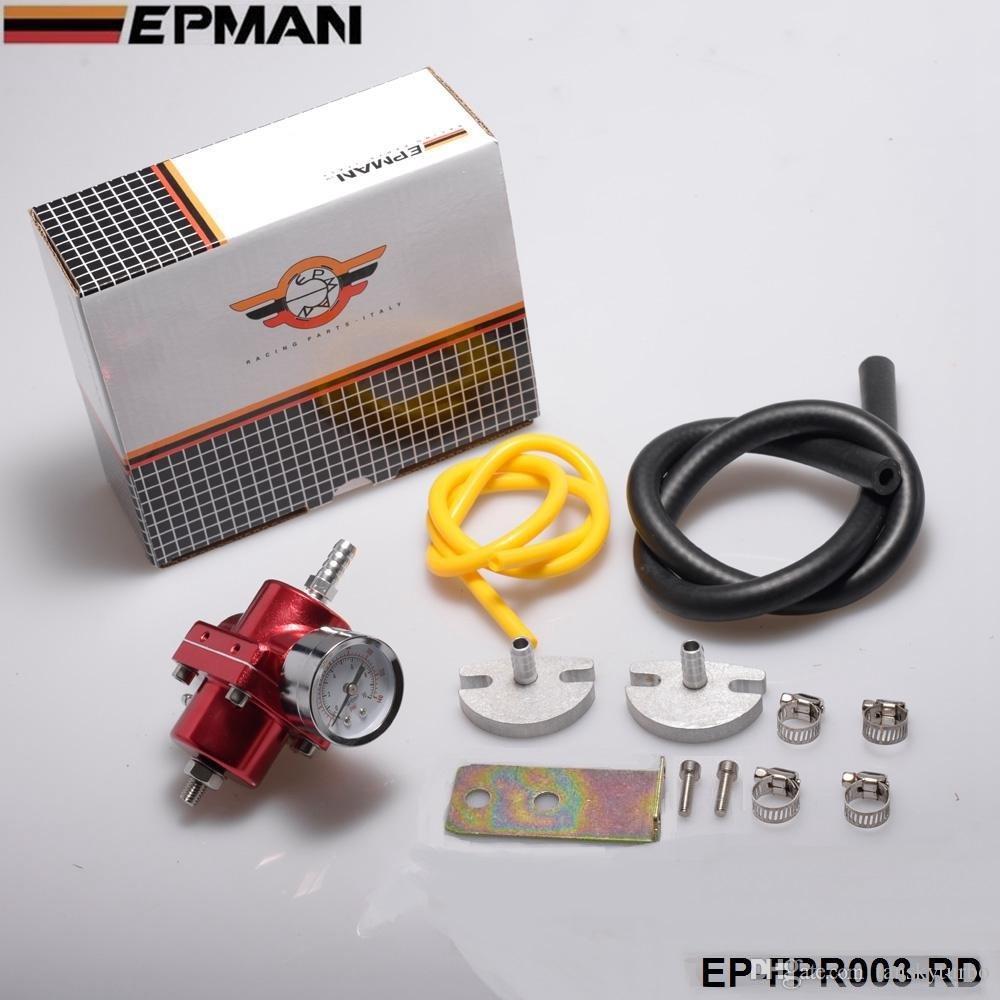 EPMAN Qualitäts-Kraftstoff-Druckregler Rot, Blau, Silber, Schwarz EP-FPR003 Standardfarbe ist rot Haben Sie auf Lager