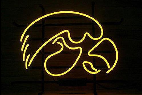 2018 new iowa hawkeyes real glass neon beer signs pub bars neon 2018 new iowa hawkeyes real glass neon beer signs pub bars neon light red blue 19x15 from huangxiaxing 7976 dhgate aloadofball Gallery