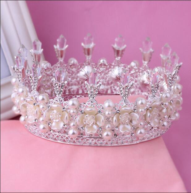 تيجان ملكية  امبراطورية فاخرة 2016-royal-king-queen-crown-rhinestone-tiara