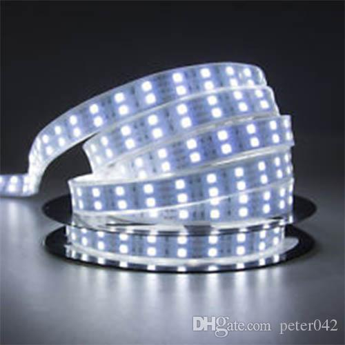 5M Double Row SMD 5050 Tube Waterproof 120Leds / M Strip Light White