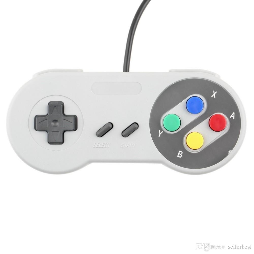 Contrôleur USB classique Contrôleurs Gamepad Joypad Joystick de remplacement pour Super Nintendo SF pour Tablet PC NES SNES LaWindows MAC