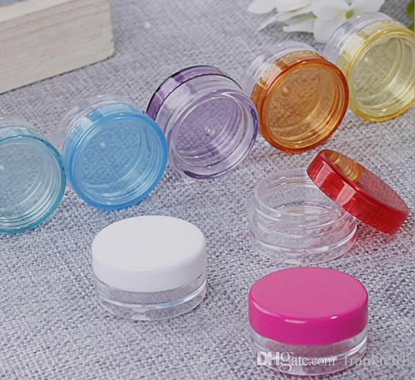 5g / 5ml wachsölbehälter tupfengläser kunststoff mit farbiger deckelkappe vape zubehör für wachsöl tropfspitze heizwendel draht kosmetische verpackung