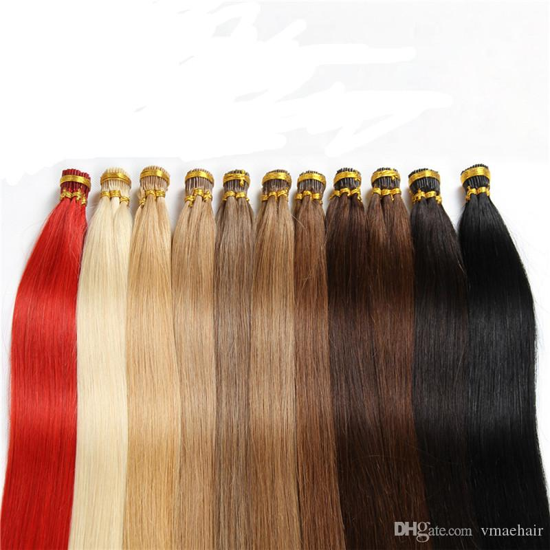 Pre Bonded Hair Extensions I Tip Stick Tip Straight Keratin Human