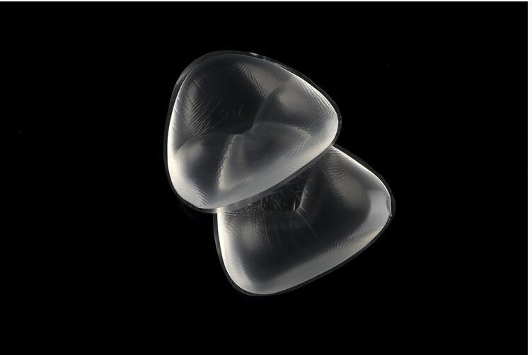 Soutien-gorge de bikini souple Insérer du gel de silicone Inserts Amélioration du décolleté Tampons triangulaires Améliorant Maillot de bain Push-up