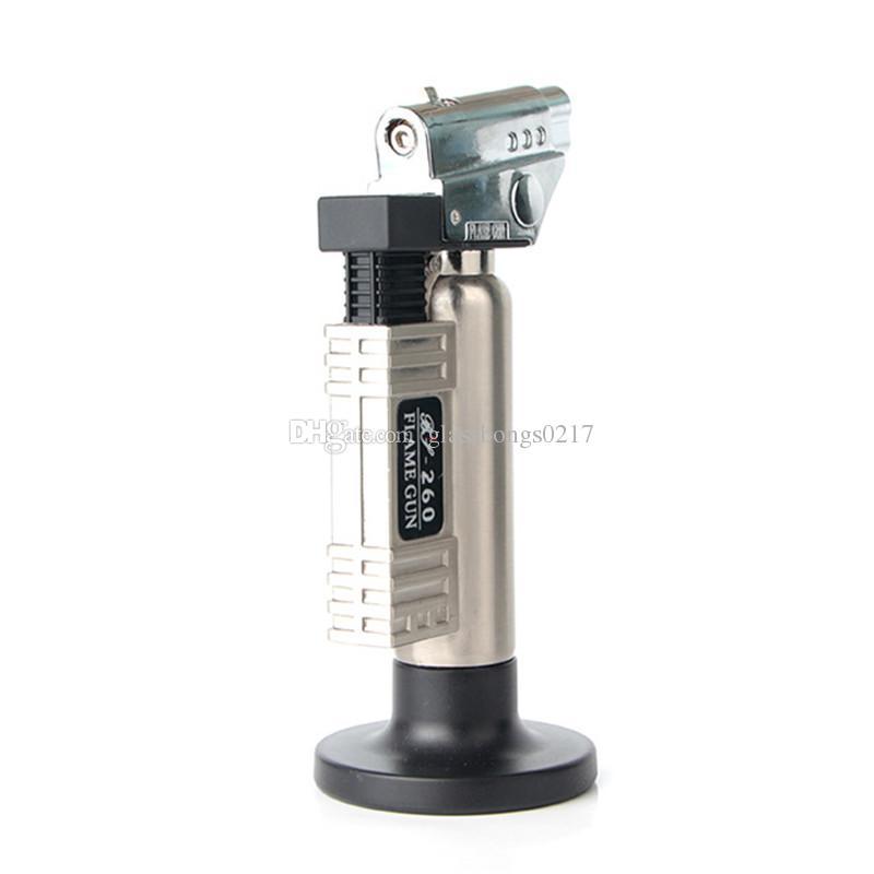Adjustable jet Flame Torch Cigar Lighter Metal Butane Jet flame Torch lighter 1300C Windproof Refillable Welding Soldering torch Lighter