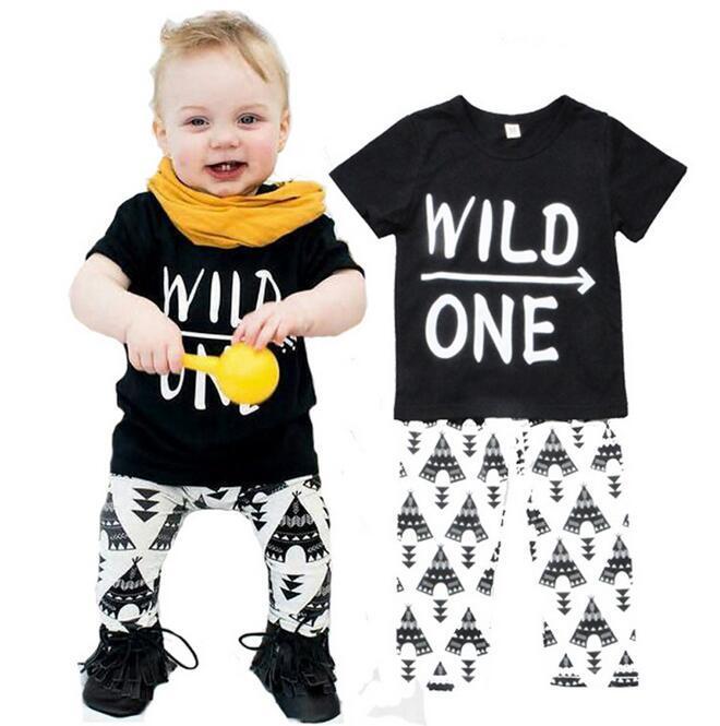 963495029c84 Newborn Infant Clothing Set Cotton T Shirts+Pants Outfits Children ...
