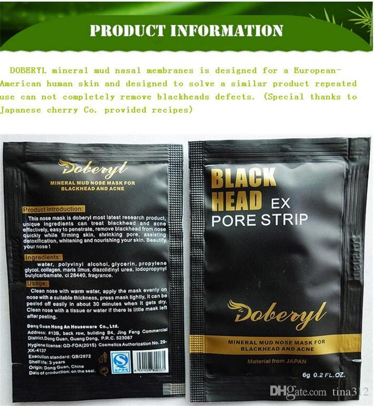 Man woman to blackheads grease contractive pore mud mask remove blackhead derived liquid nose stick T area of nursing Nose Mask 2805