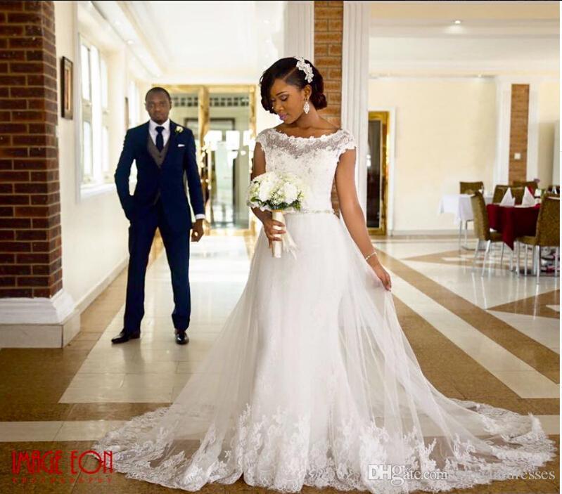 2016 Newest Corset Tulle Vintage Plus Size Pakistani Wedding Dresses Modern Lace Applique Tulle White Bridal Gowns