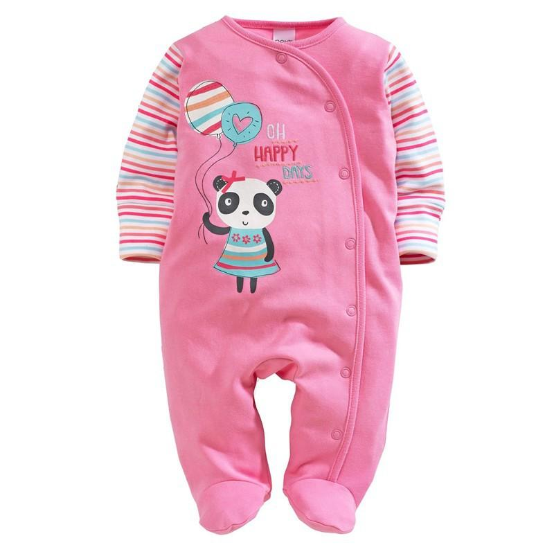 2018 panda baby girl pajamas romper foot cover newborn. Black Bedroom Furniture Sets. Home Design Ideas