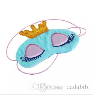 E Lovely Princess Crown Fantasy Eyes Cover Travel Sleeping Blindfold Shade Eye Mask Cartoon Long Eyelashes Blindfold eyeshade