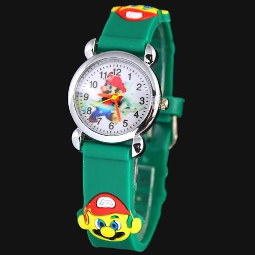 3D Cartoon Lovely Kids Girls Boys Children Students super Mario Quartz Wrist Watch Very Popular