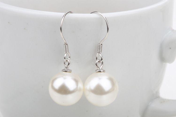 Pearl Earrings For Women Big Ball Luxury Bohemian Jewelry 925 Sterling Silver Drop Earrings Bridal Wedding Jewelry Fashion New