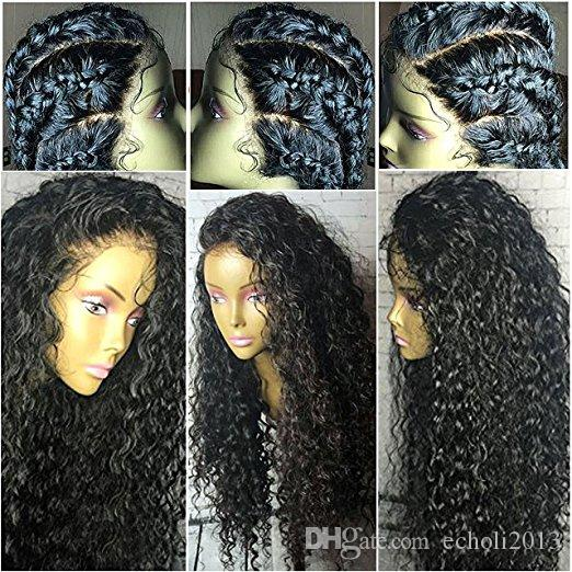 360 parrucca del merletto con la parrucca riccia anteriore pizzicata 360 parrucche anteriori del merletto dei capelli le donne nere parrucche brasiliane dei capelli 12-24inch densità di 130%