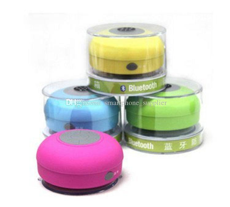 New Waterproof Wireless Bluetooth Portable Shower Speaker Colorful for iphone 5 5s 5c 4 4s samsung HTC MP3 MP4