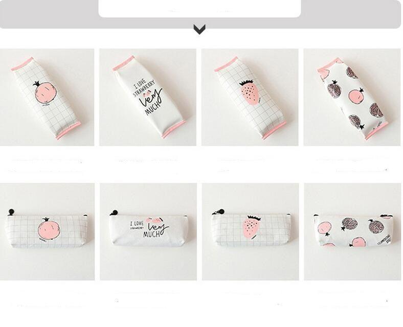 Estilo coreano escola dos desenhos animados fornecedor estudante lápis sacos de couro caixa de lápis Dos desenhos animados saco de armazenamento de papelaria mulheres comestic sacos