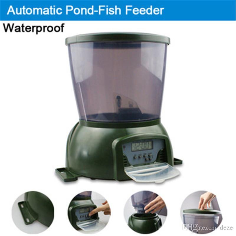 Large Capacity Digital Automatic Fish Feeder - 4L Fish Food Pond Aquarium Auto Holiday Koi Feed Timer Dispenser