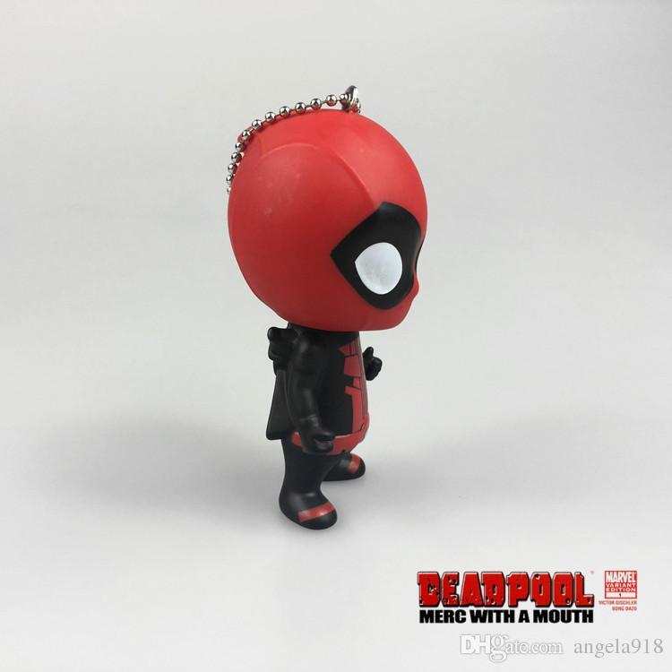 Neue Deadpool 3.54inch Superheld-Action-Figuren Keychain PVC-hohle Weiche MARVEL X- Deadpool Pendnt der Männer Freies Verschiffen E992