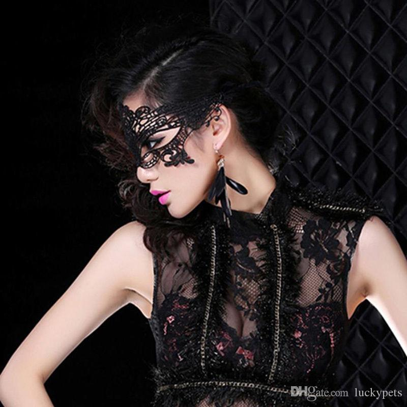 Sexy Black Lace Venetian Mask Masquerade Ball Prom Halloween Costume Party Costume Fancy Dress Cosplay Mask 160929