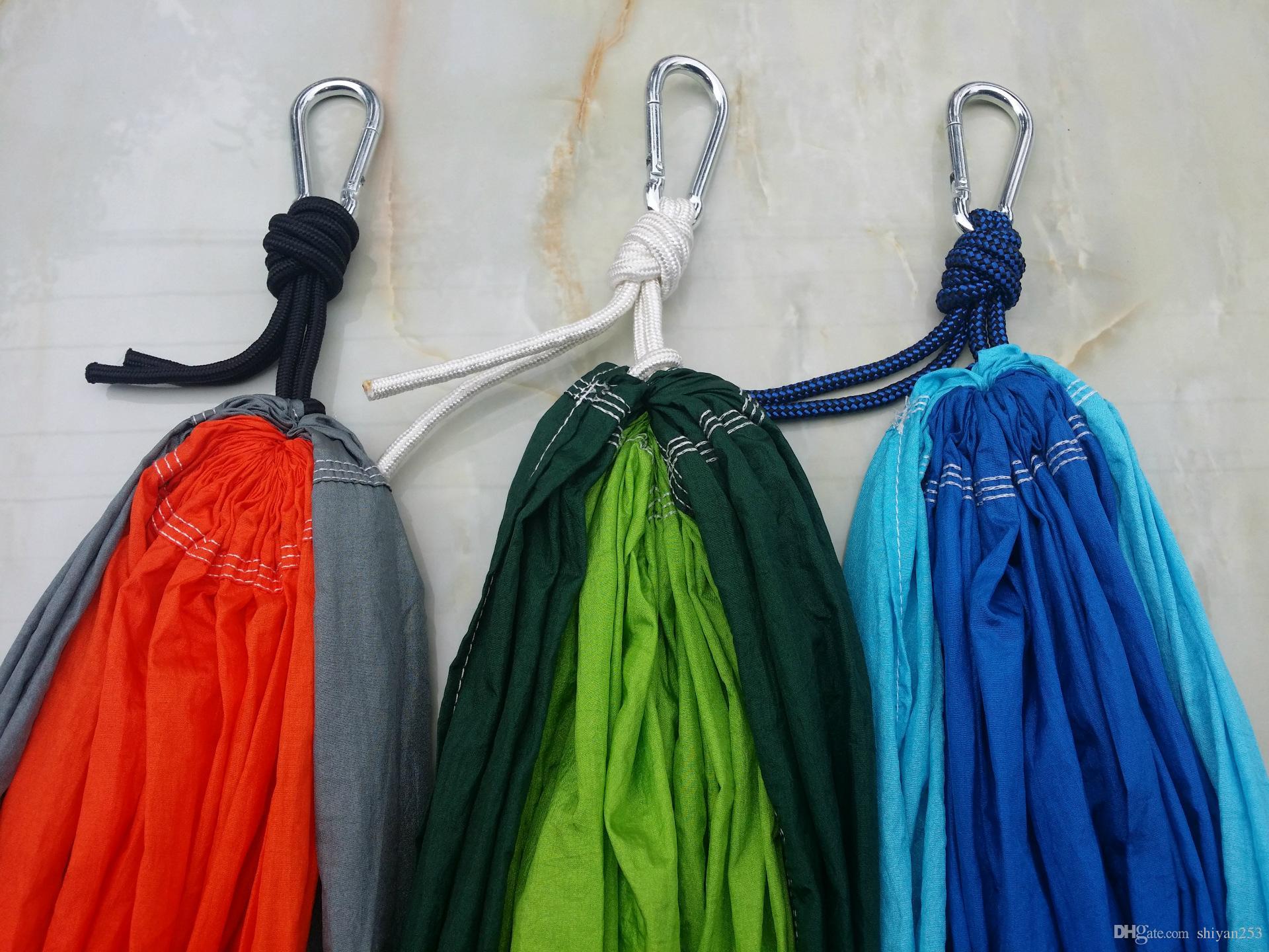 Бесплатная Доставка Новые Портативные Ткани Двойной Гамак Парашют Нейлон Прочный Двойной Лица Ассорти Цвет Для Внутреннего Наружного Использования многоцветный