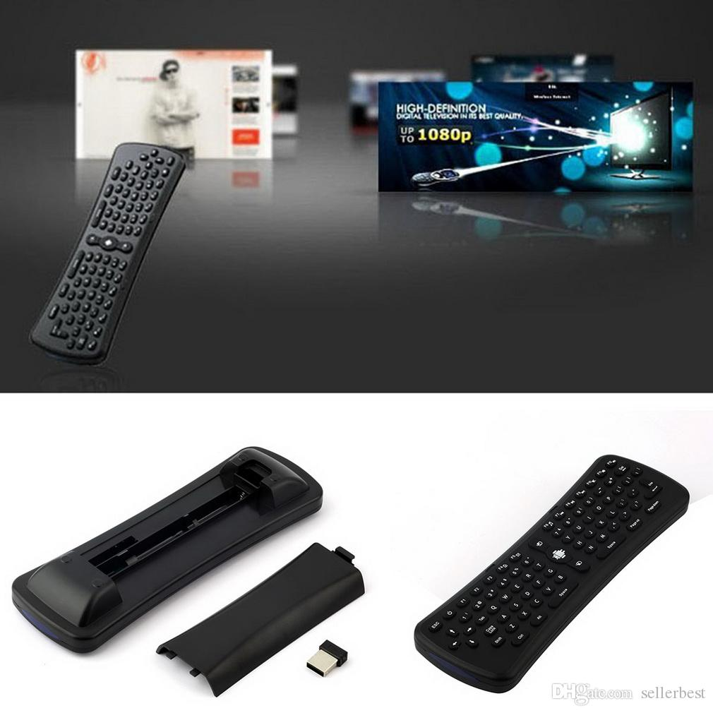 Universal inalámbrico USB T6 2.4 GHz 6 ejes Mini Fly Air Mouse Airmouse Gyro Sensing teclado QWERTY para Android TV caja excelente VR