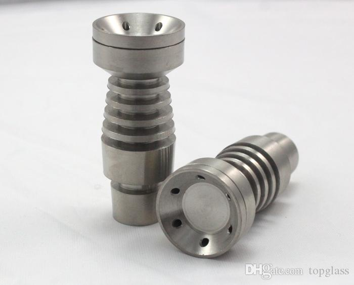 domeless titanium nail for both 14.5MM and 18.8MM for Hookahs, Big bowl GR2 TI male joint