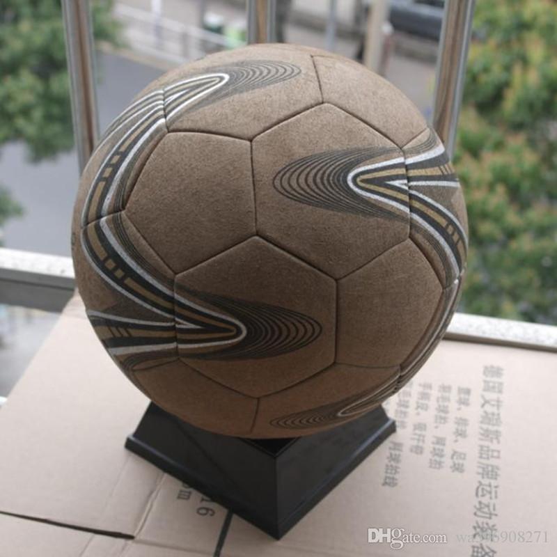 Pallone da calcio in pelle di alta qualità, pallone da calcio esterno, super-fibra, misura 5, terreni duri