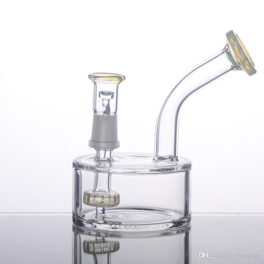2016 verre Bubbler graisse courte couleur pneu filtre à percer 80x40mm corps verre tuyaux d'eau BestGlass G39