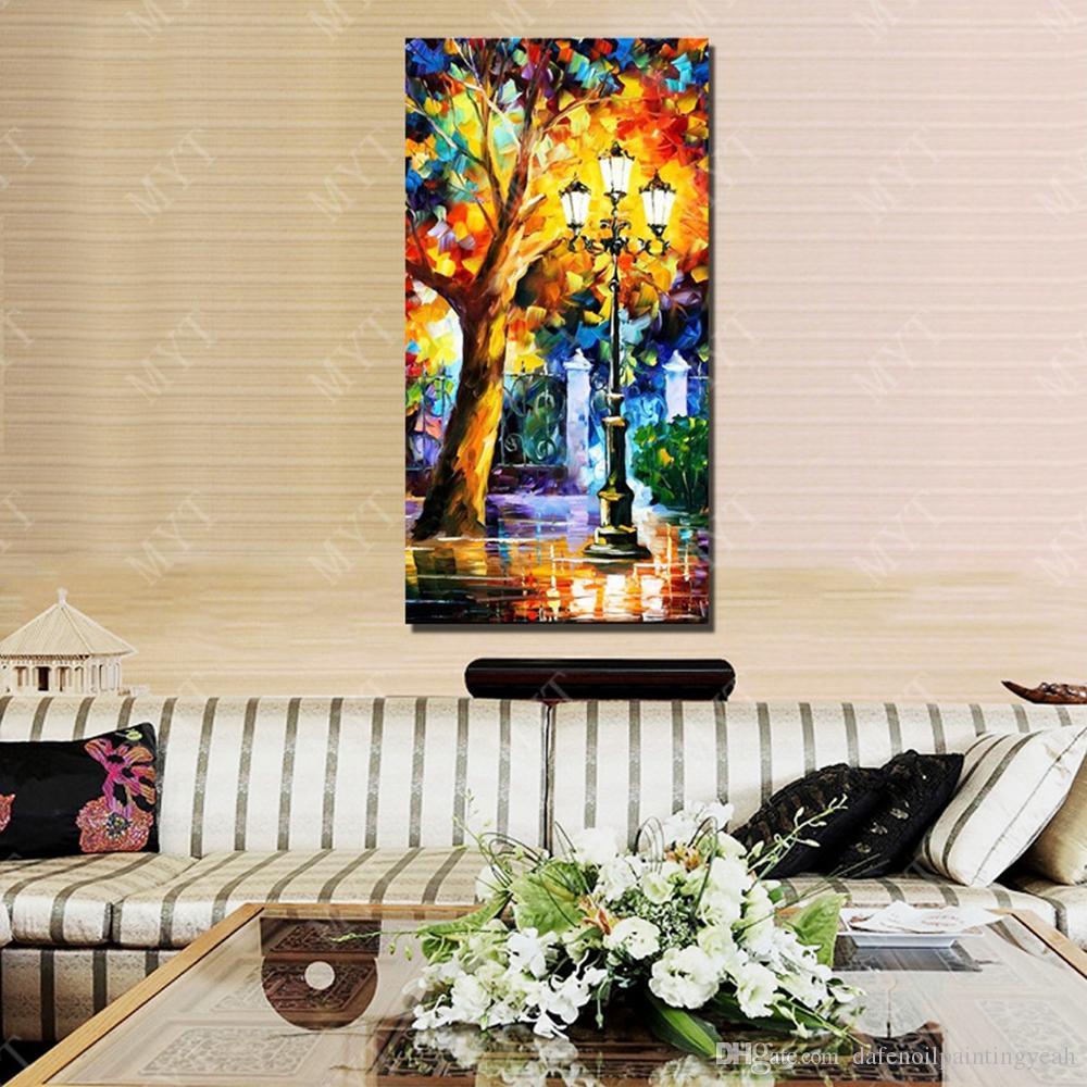 Нож ночь пейзаж картина маслом абстрактный холст фотографии Главная Декор стен ручная роспись современная живопись маслом на холсте