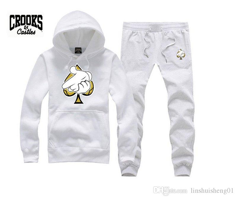 2017 The hottest Crooks and Castles sweatshirt diamond fashion hip hop hoodie mens clothes sportswear hiphop pullover sweats
