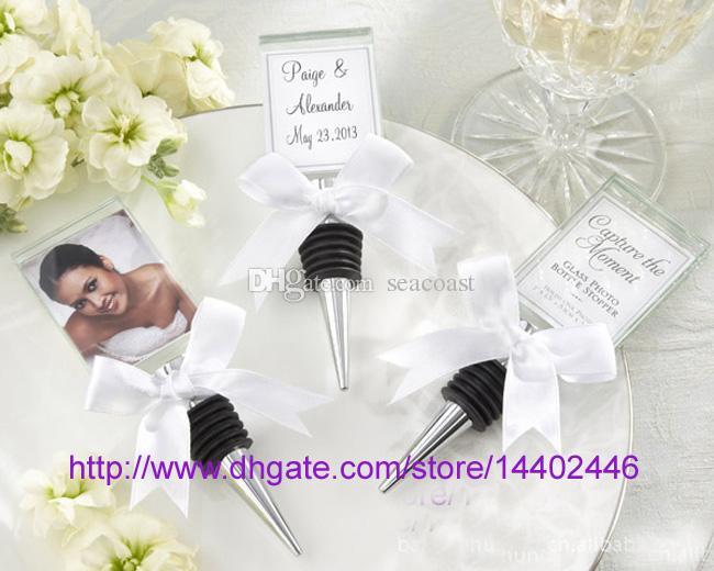 Crystal Photo Frame Batter Batter Rolha de Vinho Foto Frames Place Cartão Titular De Casamento Partido Presente Favores Brown Chuveiro