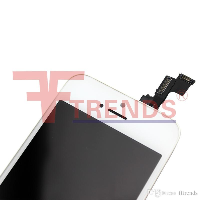 iPhone 5 5S 5C SE LCD Touch Screen Digitizer Parti di ricambio assemblaggio completo Prezzo a buon mercato 50 pz / lotto Nero Bianco Spedizione gratuita