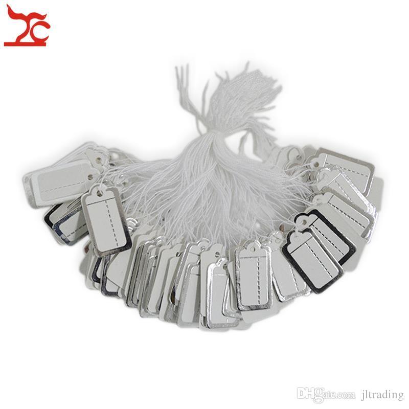 Présentoir à bijoux 500 pièces Cravate PRIX ÉTIQUETTE en argent doré étiquette en papier étiquette de prix avec ficelle livraison gratuite
