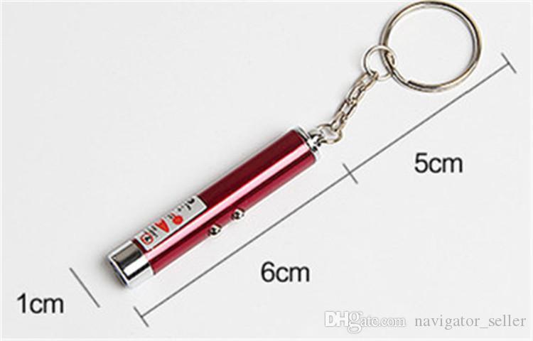 DHL / Fedex Werbegeschenk Signal für Hilfe Outdoor Gadgets Mini LED Licht Laser Keychain Survival Tools 24 Stück