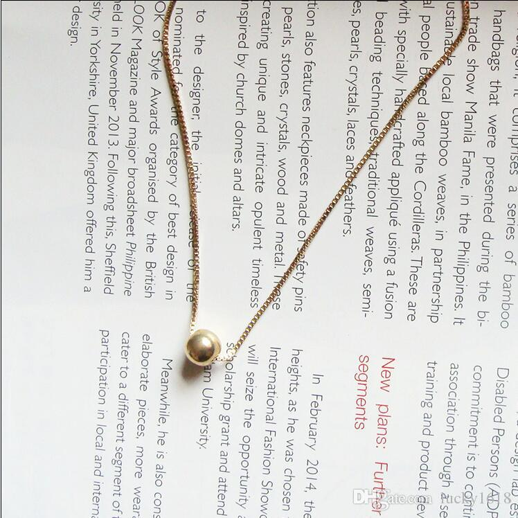 Wholesale--New trend hot sale brass ball pendant necklace,modern stylish & wear comfortable for women & men,jewelry gift, party
