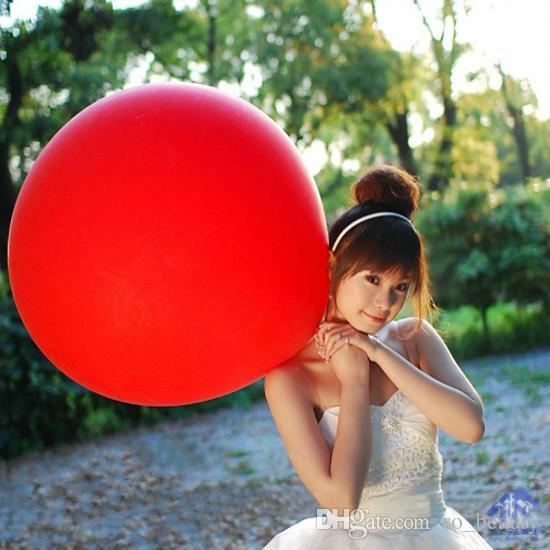 36 polegadas de Látex Rodada Grande Balão Cores Do Partido Balões Gigantes de Casamento Feliz Aniversário Decoração de Aniversário 90 cm novo