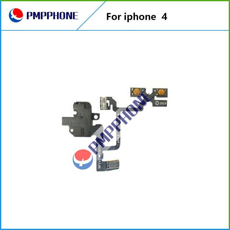 Goede kwaliteit voor iPhone 4 4G Hoofdtelefoon Audio Jack Power Volume Switch Flex Cable Vervanging Snelle Verzending