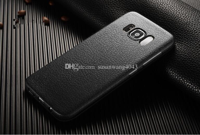 Nouveau TPU téléphone housse de protection pour iphone7 iphone 8 7 6 6 s plus iphone X S8 Plus Ultra-mince modèle en cuir TPU soft shell coque de protection GSZ283