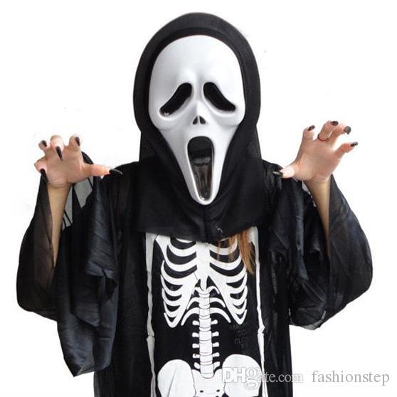 Großhandel Halloween Maske Masquerade Latex Party Kleid Schädel ...
