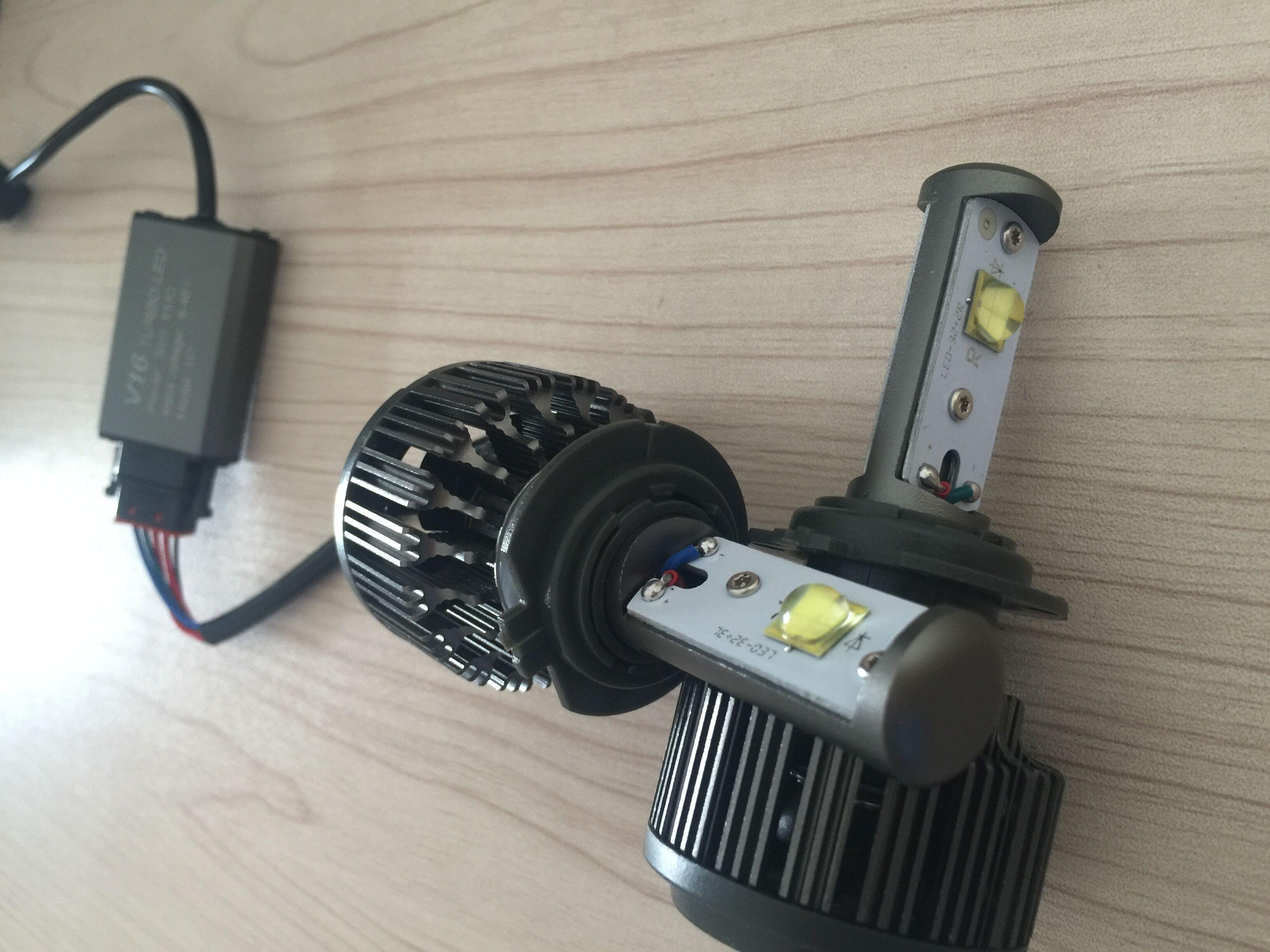 2018 v16 turbo cree led replacement headlight foglight kit 30w 3600lm 12v 24v h7 drl waterproof. Black Bedroom Furniture Sets. Home Design Ideas