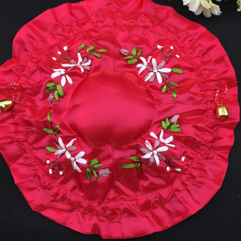 Caso anel inferior da fita handmade rodada saco bordado chinês étnico Satin Cloth Viagem jóias de malotes 8 Bag Craft sacos para embalagem
